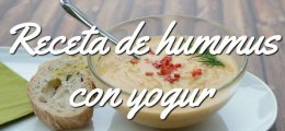 Receta de hummus con yogur